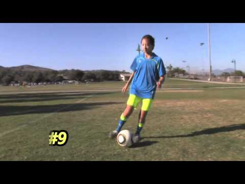 Christie Lee, Soccer Star, demonstates Soccer Training Skills and Drills