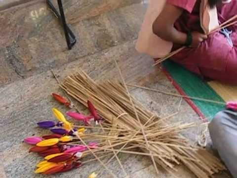 Handi crafts made by local available materials youtube for Decorative things from waste