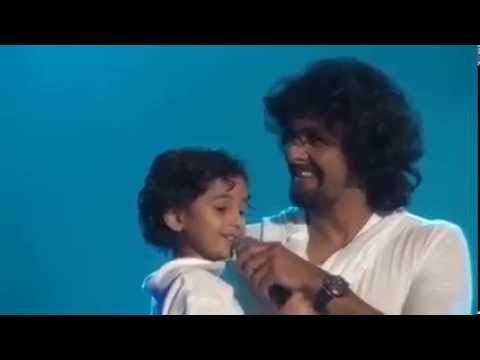 Simply adorable - Sonu Nigam's Son Singing Abhi Mujh mein kahin