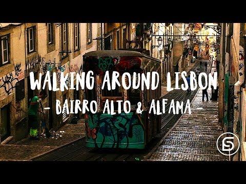 Walking around Lisbon, Portugal | Bairro Alto & Alfama