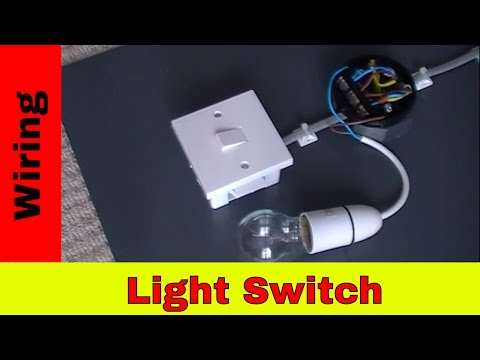 How to wire a light switch.