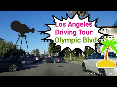 Los Angeles Driving Tour: Olympic Blvd During a Morning  Commute Hours