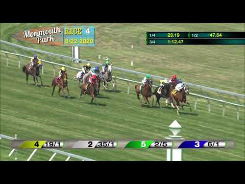 video thumbnail for MONMOUTH PARK 08-22-20 RACE 4
