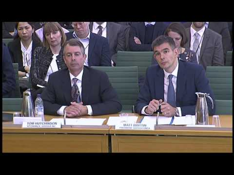 Google bosses grilled by MPs over tax