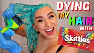 DYING MY HAIR WITH SKITTLES