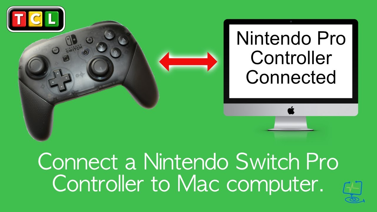 How To - Connect and use a Nintendo Pro Switch controller on a Mac computer