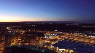 Полет квадрокоптер Dji Phantom видео \ dji drone flight video