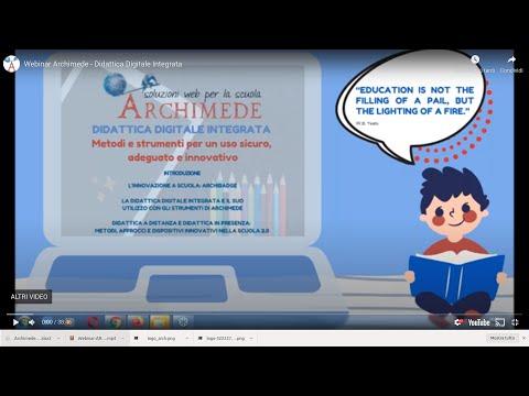 Webinar Archimede  - Didattica Digitale Integrata
