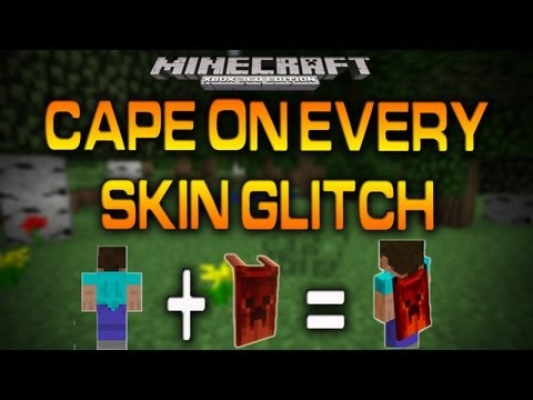 minecraft pocket edition roblox xbox 360 video game cape Minecraft Xbox 360 Cape On Every Skin Glitch How To Youtube