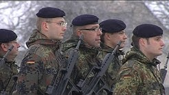 Des soldats allemands s'installent en Alsace