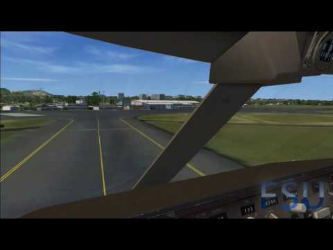 FSX - 747 Landing with FREE Scenery and FREE engine sounds