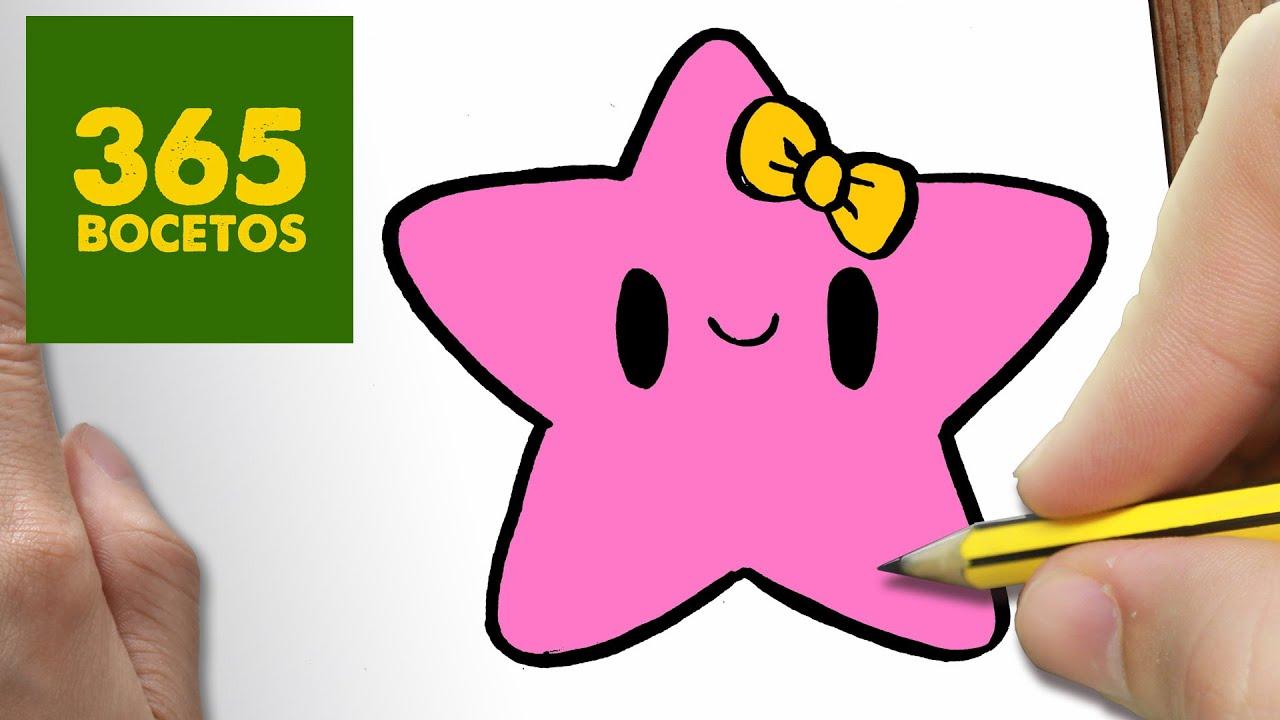 Como Dibujar Estrella Kawaii Paso A Paso Dibujos Kawaii Faciles How To Draw A Star