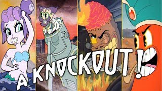 Cuphead - All Boss Intros & Knockouts/Deaths
