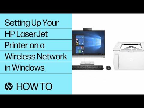 Setting Up Your HP LaserJet Printer On A Wireless Network In Windows | HP LaserJet | HP