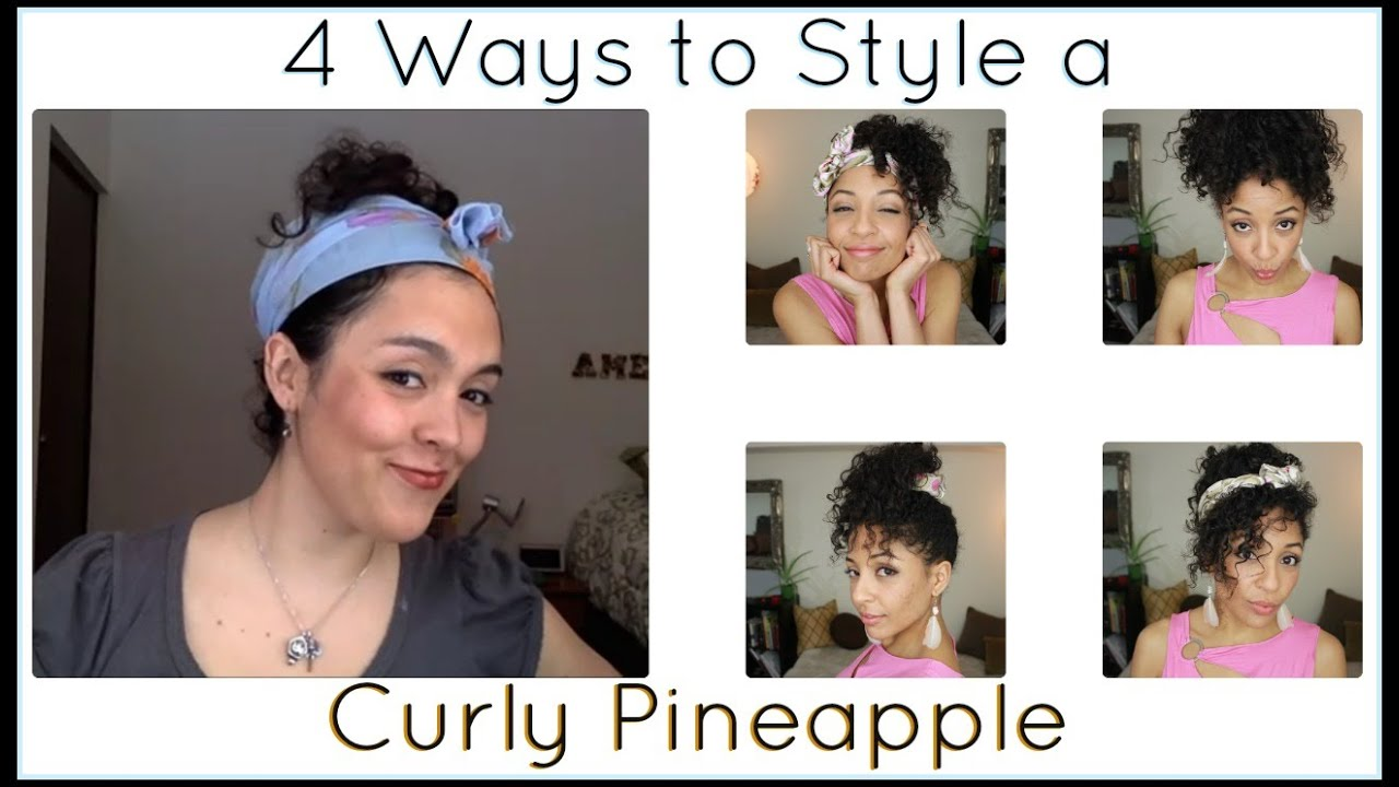 Curly Hairstyles Easy Ways To Style A Pineapple Ft Amelia