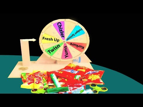 How To Make Spinning Wheel Game For Kids From Cardboard