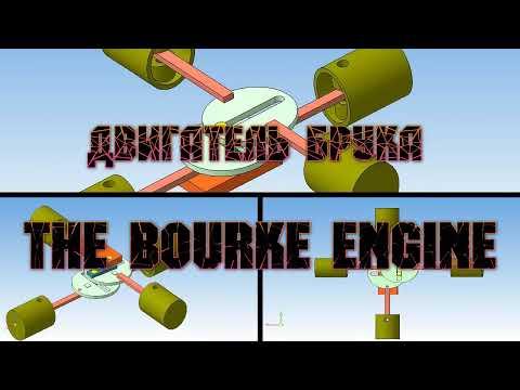 3D animation The Bourke Engine ДВИГАТЕЛЬ БУРКа