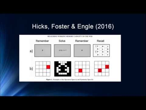 Cognition Lecture 4 7   Measurement and Predictive Power of Working Memory