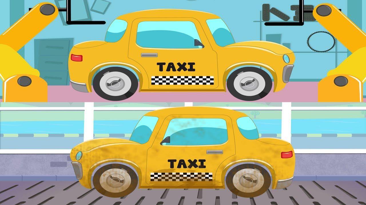 taxi car garage car wash games for kids street vehicle for children
