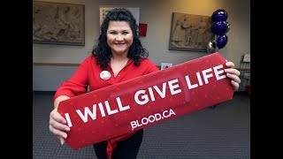 Former blood donor recipient encouraging others to give the gift of ...