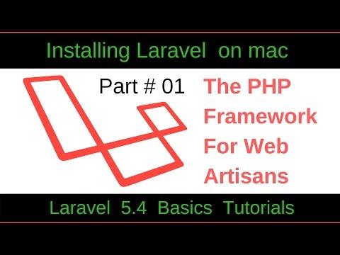 Laravel 5.4 Basic Tutorial-1 : How To Install Composer, Laravel Installer  And  Laravel 5.4 On Mac