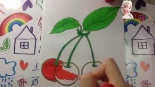 Tô màu quả thị | Tô màu theo chủ đề hoa quả | bé tô màu quả thị