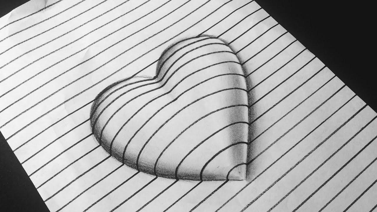 3d optical illusion 3d trick art how to draw 3d love sign rainbowart