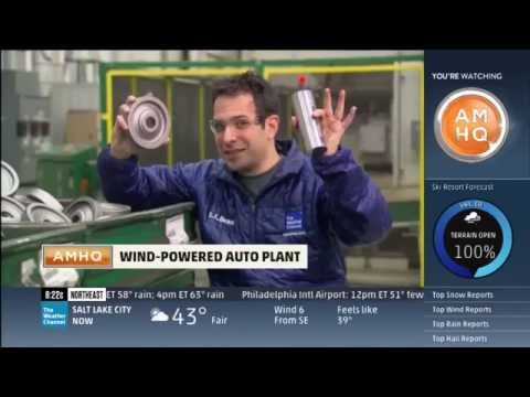 The Weather Channel Visits Juhl Energy Wind Project at Honda Plant April 8, 2014