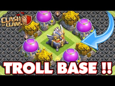 Clash Of Clans   INCREDIBLE EAGLE ARTILLERY TROLL BASE!!! Town Hall 11 Max Troll Base!