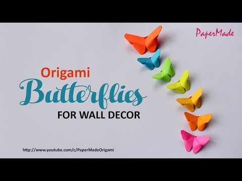 Paper Butterflies For Your Wall Decoration   DIY   Decor   PaperMade