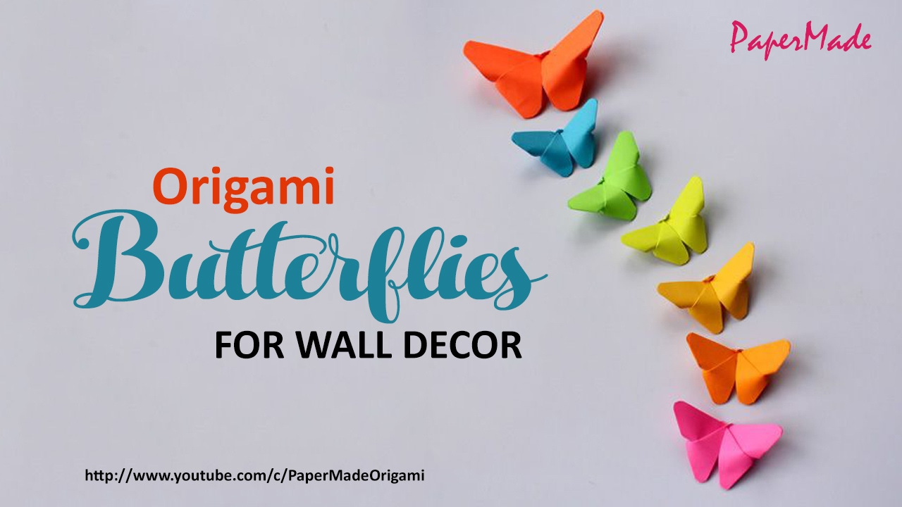 Paper Butterflies For Your Wall Decoration | DIY | Decor | PaperMade    YouTube
