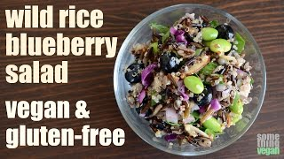 Wild Rice Blueberry Salad (vegan & Gluten-free) Something Vegan