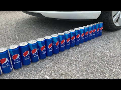 Experiment Car vs Pepsi | Crushing crunchy & soft things by car | Test Ex