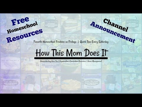 Channel Announcement and Lot's of Free Homeschool Resources!!!