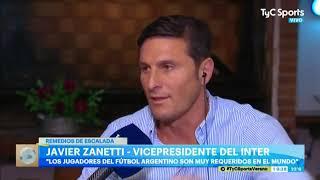 Javier Zanetti: Lautaro Martínez, Burdisso, Scaloni ¿y un guiño a Martínez Quarta?