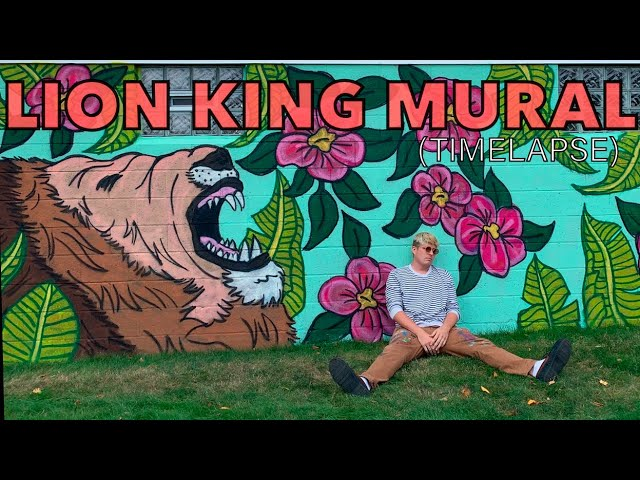 3 HOUR MURAL - King of the Jungle (Time-lapse) - Zachary Rutter Art - Studio Time With ZAC