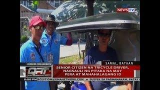 QRT: Senior citizen na tricycle driver, nagsauli ng pitaka na may pera at mahahalagang ID