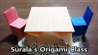 Origami - Table & Chair / 종이접기 - 테이블과 의자