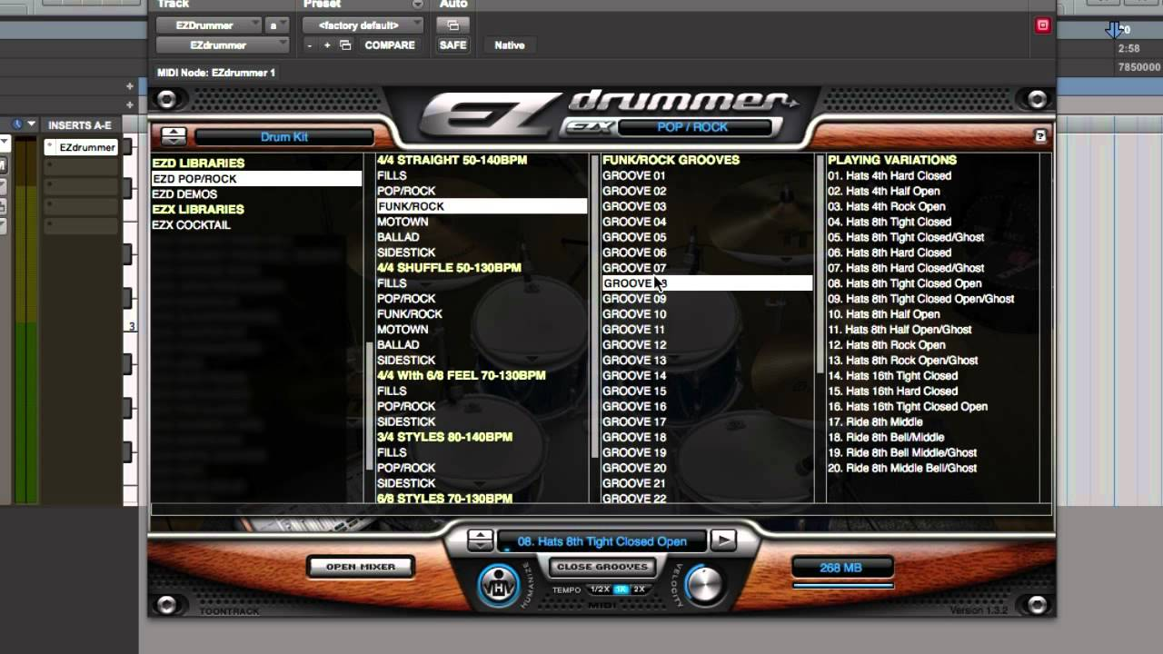 Superior drummer 2. 0 on the mac app store.