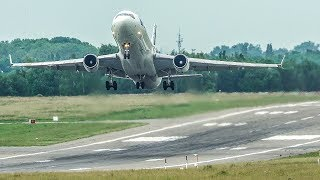 MD11 tries to DEPART VERTICALLY - 700 METER TAKE-OFF RUN of a HEAVY PLANE (4K)