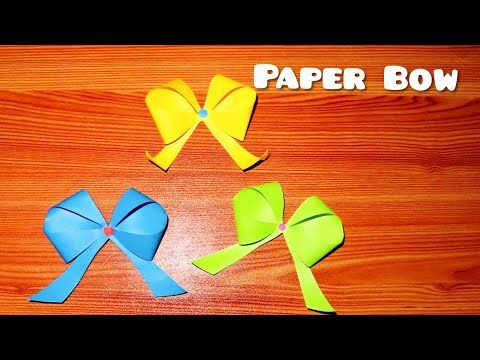 How to make a Ribbon  | How to make an Paper Bow | LetzCraft |