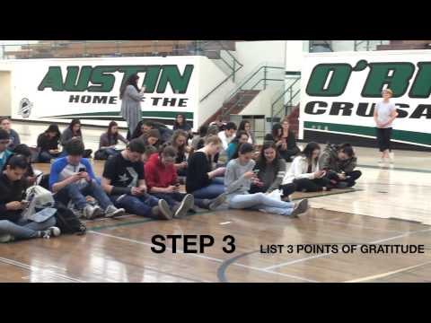 Austin O'Brien High School 21 Day Happiness Challenge