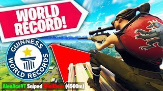 Going For A WORLD RECORD SNIPE IN FORTNITE! | Fortnite Playground Custom Game