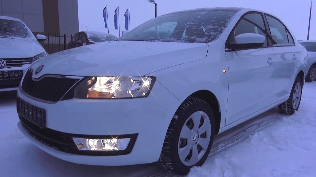 2017 Škoda Rapid 1.6 MPI AT. Обзор (интерьер, экстерьер, двигатель).