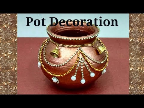 Pot Decoration|| Kalash decoration || Navratri/ Diwali special ||