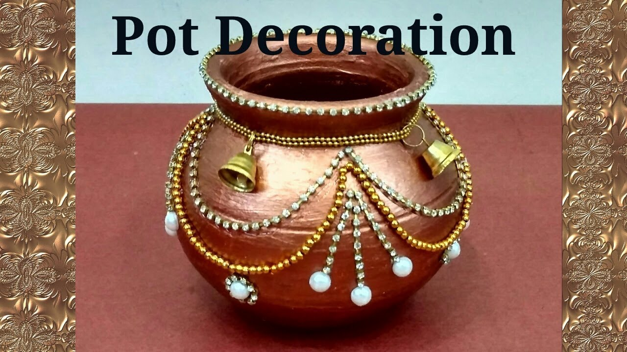 Pot Decoration Kalash Decoration Navratri Diwali