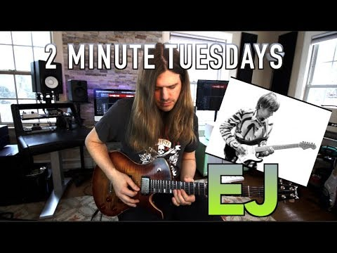 Eric Johnson Style Run - 2 Minute Tuesdays#3 ( With Tabs)