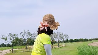 여자 여름 벙거지 모자 라탄 니트 -필드가 골프패션-w…