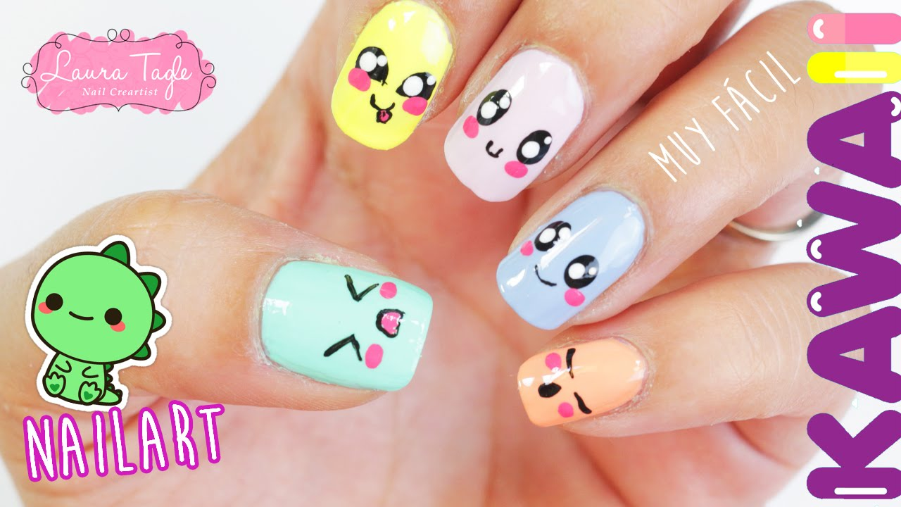 Uñas Kawaii - YouTube