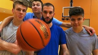 One of MrWoofless's most viewed videos: THE PACK BASKETBALL CHALLENGE!